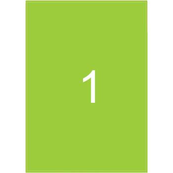 Ετικέτες Εκτυπωτών Αυτοκόλλητες Typolabel, Πράσινες σε πακέτο 25 φύλλων για εκτύπωση.