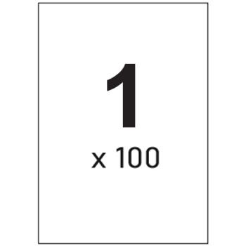 Ετικέτες Εκτυπωτών Αυτοκόλλητες Typolabel Λευκές, σε κουτί 100 φύλλων Α4 και σύνολο 100 ετικέτες για εκτύπωση.