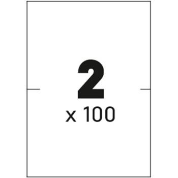 Ετικέτες Εκτυπωτών Αυτοκόλλητες Typolabel, σε κουτί 100 φύλλων και σύνολο 200 ετικέτες για εκτύπωση.