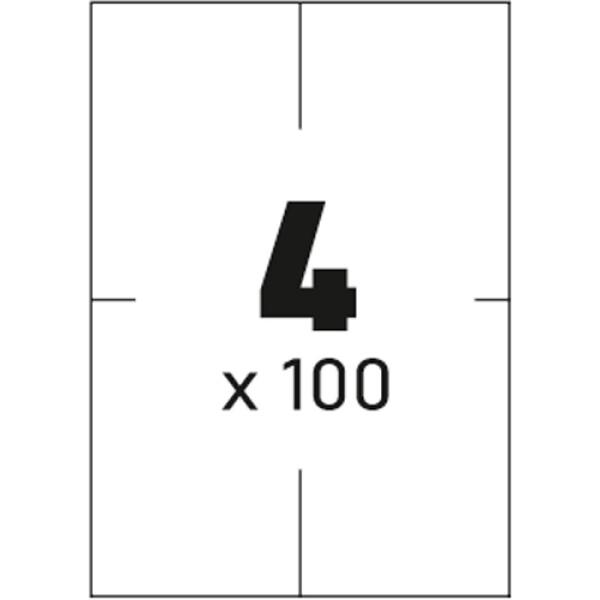 Ετικέτες Εκτυπωτών Αυτοκόλλητες Typolabel, σε κουτί 100 φύλλων και σύνολο 400 ετικέτες για εκτύπωση.
