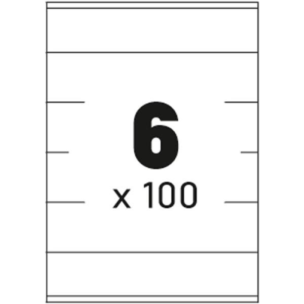 Ετικέτες Εκτυπωτών Αυτοκόλλητες Typolabel, σε κουτί 100 φύλλων και σύνολο 600 ετικέτες για εκτύπωση.