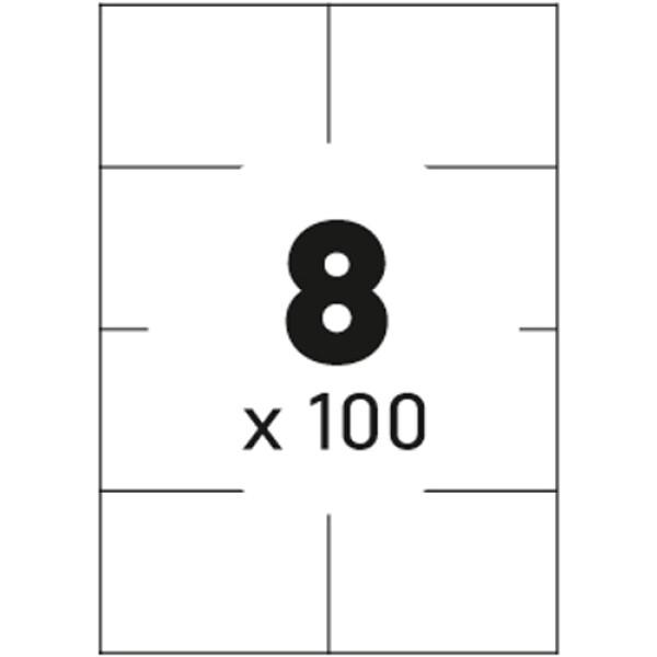 Ετικέτες Εκτυπωτών Αυτοκόλλητες Typolabel, σε κουτί 100 φύλλων και σύνολο 800 ετικέτες για εκτύπωση.