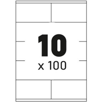 Ετικέτες Εκτυπωτών Αυτοκόλλητες Typolabel, σε κουτί 100 φύλλων και σύνολο 1000 ετικέτες για εκτύπωση.