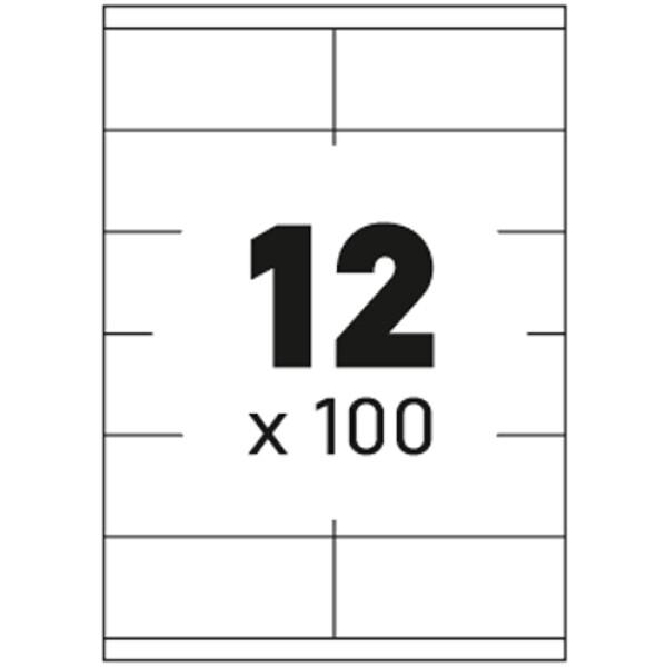 Ετικέτες Εκτυπωτών Αυτοκόλλητες Typolabel, σε κουτί 100 φύλλων και σύνολο 1200 ετικέτες για εκτύπωση.