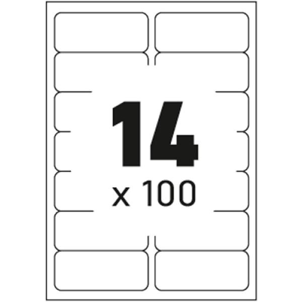 Ετικέτες Εκτυπωτών Αυτοκόλλητες Typolabel, σε κουτί 100 φύλλων και σύνολο 1400 ετικέτες για εκτύπωση.