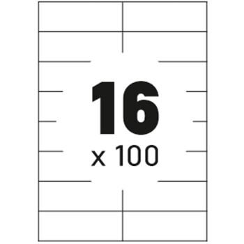 Ετικέτες Εκτυπωτών Αυτοκόλλητες Typolabel, σε κουτί 100 φύλλων και σύνολο 1600 ετικέτες για εκτύπωση.