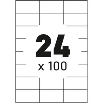 Ετικέτες Εκτυπωτών Αυτοκόλλητες Typolabel σε κουτί 100 φύλλων και σύνολο 2400 ετικέτες για εκτύπωση.