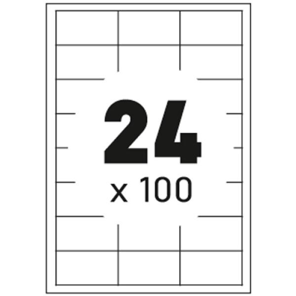 Ετικέτες Εκτυπωτών Αυτοκόλλητες Typolabel, σε κουτί 100 φύλλων και σύνολο 2400 ετικέτες για εκτύπωση.