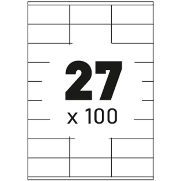 Ετικέτες Εκτυπωτών Αυτοκόλλητες Typolabel, σε κουτί 100 φύλλων και σύνολο 2700 ετικέτες για εκτύπωση.