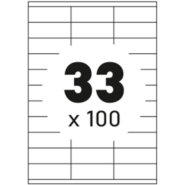 Ετικέτες Εκτυπωτών Αυτοκόλλητες Typolabel, σε κουτί 100 φύλλων και σύνολο 3300 ετικέτες για εκτύπωση.