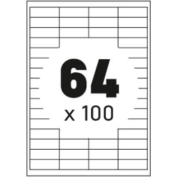 Ετικέτες Εκτυπωτών Αυτοκόλλητες Typolabel, σε κουτί 100 φύλλων και σύνολο 6400 ετικέτες για εκτύπωση.