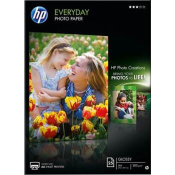 Χαρτί Φωτογραφικό Hp Everyday Photo Paper σε διάσταση A4 για γυαλιστερές εκτυπώσεις σε πακέτο 25 φύλλων.