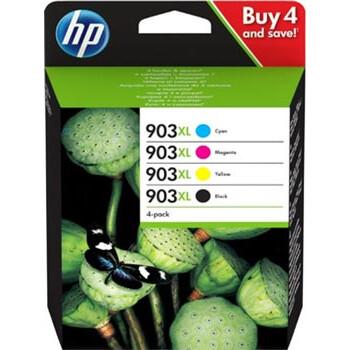 Γνήσιο Hp 903XL Multipack Πακέτο 4ων Μελανιών με κωδικό 3HZ51AE που περιέχει και τα 4 μελάνια του εκτυπωτή σας.