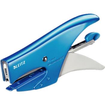 Συρραπτικό Leitz 5547 χειρός Μπλε με δώρο 1000 σύρματα Leitz. Έχει εργονομικό σχεδιασμό για εύκολο χειρισμό.