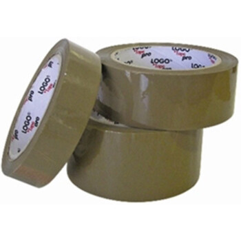 Logo coffee packing tape with a dimension of 4.8cm width on a roll of 66 meters for endless packaging.