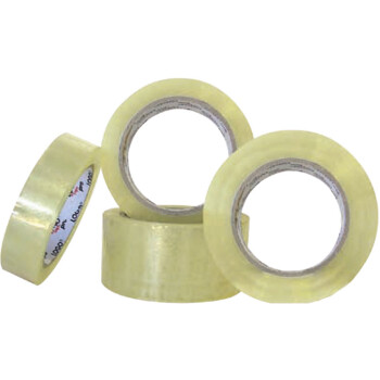 Logo transparent packaging tape with a dimension of 2.4cm width in a roll of 66 meters for endless packaging.