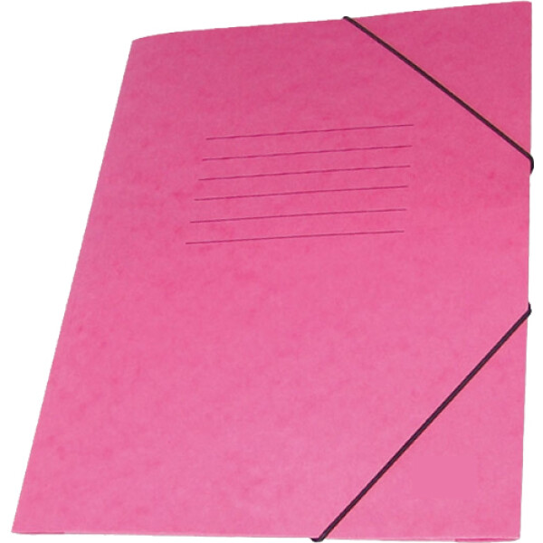Φάκελος Πρέσπαν με Αυτιά και Λάστιχο διαστάσεων 25x35cm σε χρώμα Φούξια, για εύκολη και γρήγορη αποθήκευση εγγράφων.