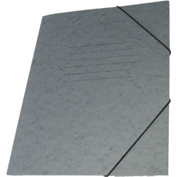 Φάκελος Πρέσπαν με Αυτιά και Λάστιχο διαστάσεων 25x35cm σε χρώμα Γκρι, για εύκολη και γρήγορη αποθήκευση εγγράφων.
