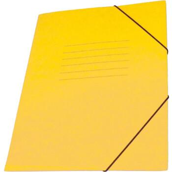 Φάκελος Πρέσπαν με Αυτιά και Λάστιχο διαστάσεων 25x35cm σε χρώμα Κίτρινο, για εύκολη και γρήγορη αποθήκευση εγγράφων.