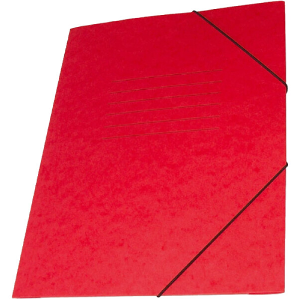 Φάκελος Πρέσπαν με Αυτιά και Λάστιχο διαστάσεων 25x35cm σε χρώμα Κόκκινο, για εύκολη και γρήγορη αποθήκευση εγγράφων.