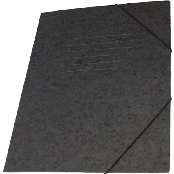 Φάκελος Πρέσπαν με Αυτιά και Λάστιχο διαστάσεων 25x35cm σε χρώμα Μαύρο, για εύκολη και γρήγορη αποθήκευση εγγράφων.