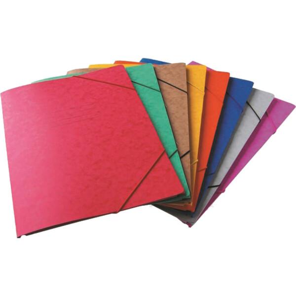 Φάκελος Πρέσπαν με Αυτιά και Λάστιχο διαστάσεων 25x35cm σε χρώμα Μωβ, για εύκολη και γρήγορη αποθήκευση εγγράφων.