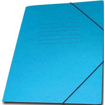 Φάκελος Πρέσπαν με Αυτιά και Λάστιχο διαστάσεων 25x35cm σε χρώμα Μπλε, για εύκολη και γρήγορη αποθήκευση εγγράφων.