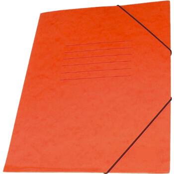 Φάκελος Πρέσπαν με Αυτιά και Λάστιχο διαστάσεων 25x35cm σε χρώμα Πορτοκαλί, για εύκολη και γρήγορη αποθήκευση εγγράφων.