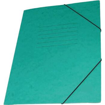 Φάκελος Πρέσπαν με Αυτιά και Λάστιχο διαστάσεων 25x35cm σε χρώμα Πράσινο, για εύκολη και γρήγορη αποθήκευση εγγράφων.
