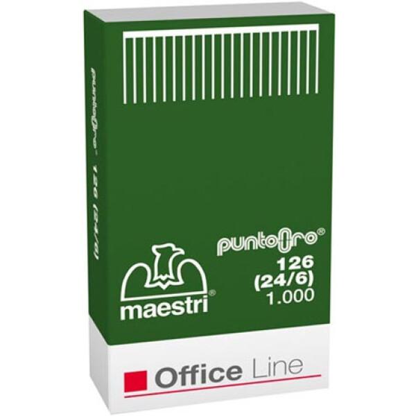 Σύρματα Συρραφής Roma No 126 (24/6) Maestri σε κουτί των 1000 Συρμάτων συρραφής. Μπορεί να συρράψει έως 20-23 φύλλα χαρτί 80γρ.