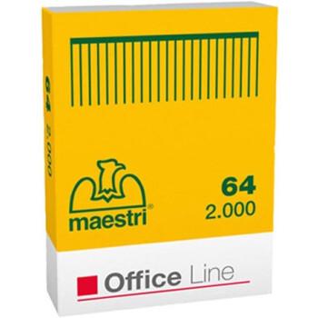 Σύρματα Συρραφής Roma No 64 Maestri σε κουτί των 2000 Συρμάτων συρραφής. Μπορεί να συρράψει έως 10-12 φύλλα χαρτί 80γρ.