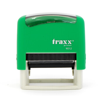 Σφραγίδα Traxx Printer 9012 Αυτομελανώμενη Πράσινη για κατασκευή σφραγίδας έως 5 γραμμών κειμένου.