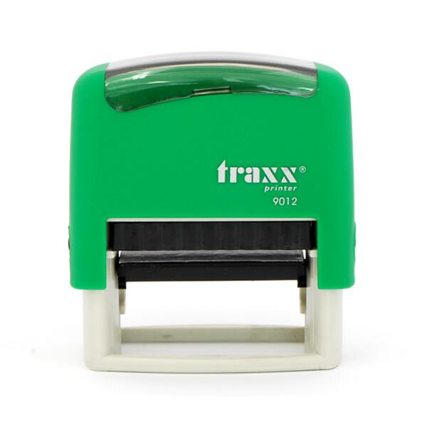 Σφραγίδα Traxx Printer 9012 Αυτομελανώμενη Πράσινη για κατασκευή σφραγίδας έως 4ων γραμμών κειμένου.