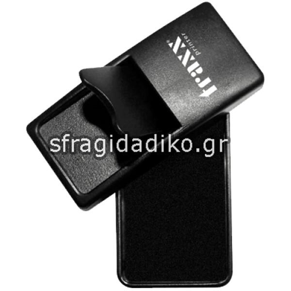 Σφραγίδα Τσέπης Μαύρη Traxx 53080 Pocket Stamp για κατασκευή σφραγίδας μηχανικού 8 γραμμών με διάσταση 8Χ3cm & μπλε χρώμα μελανιού.