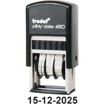 Σφραγίδα Ημερομηνιών TRODAT 4810 Αυτομελανώμενη με Αριθμούς Ύψους 3.8mm με μαύρο ταμπόν και μήκος σφραγίδας 2.1cm.
