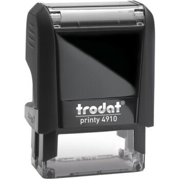 Σφραγίδα Trodat Printy 4910 Eco Αυτομελανώμενη Μαύρη για κατασκευή σφραγίδας έως 2 μικρών λέξεων.