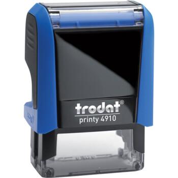 Σφραγίδα Trodat Printy 4910 Eco Αυτομελανώμενη Μπλε για κατασκευή σφραγίδας έως 2 μικρών λέξεων.