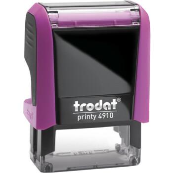 Σφραγίδα Trodat Printy 4910 Eco Αυτομελανώμενη Φούξια για κατασκευή σφραγίδας έως 2 μικρών λέξεων.