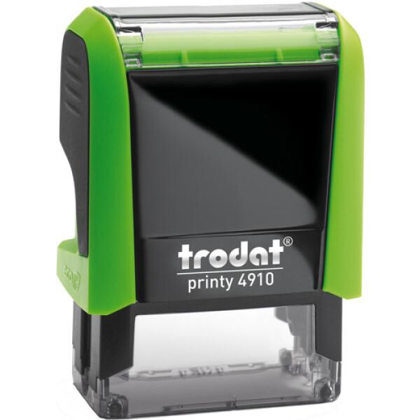Σφραγίδα Trodat Printy 4910 Eco Αυτομελανώμενη Πράσινη για κατασκευή σφραγίδας έως 2 μικρών λέξεων.