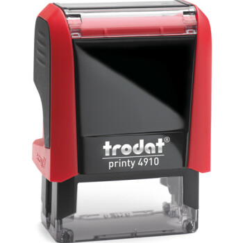Σφραγίδα Trodat Printy 4910 Eco Αυτομελανώμενη Κόκκινη για κατασκευή σφραγίδας έως 2 μικρών λέξεων.