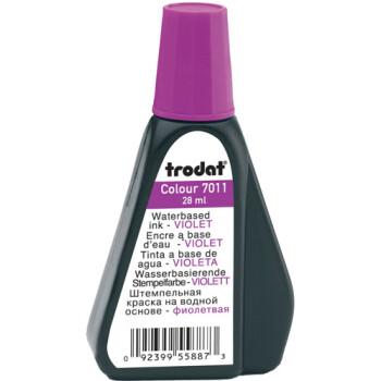 Trodat 7011 Μελάνι Σφραγίδας Μωβ σε μπουκαλάκι 28ml για όλους τους τύπους ταμπόν Trodat.