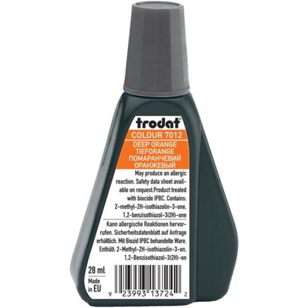 Trodat 7012 Μελάνι Σφραγίδας Deep Orange (Πορτοκαλί Βαθύ) σε μπουκαλάκι 28ml για όλους τους τύπους ταμπόν Trodat.