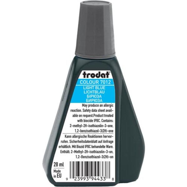 Trodat 7012 Μελάνι Σφραγίδας Light Blue (Μπλε Ανοιχτό) σε μπουκαλάκι 28ml για όλους τους τύπους ταμπόν Trodat.