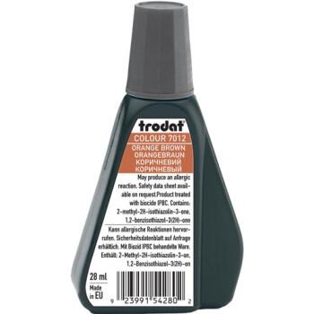 Trodat 7012 Μελάνι Σφραγίδας Orange Brown (Καφέ ανοιχτό) σε μπουκαλάκι 28ml για όλους τους τύπους ταμπόν Trodat.