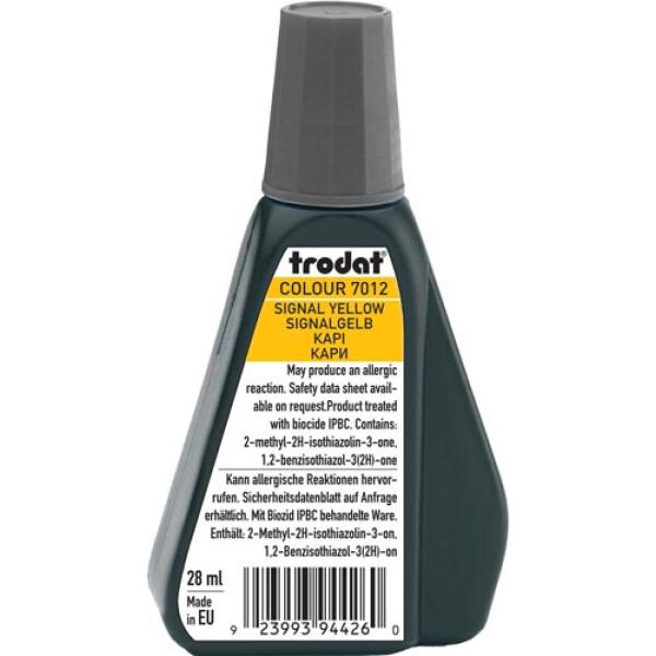 Trodat 7012 Μελάνι Σφραγίδας Signal Yellow (Κίτρινο Βαθύ) σε μπουκαλάκι 28ml για όλους τους τύπους ταμπόν Trodat.