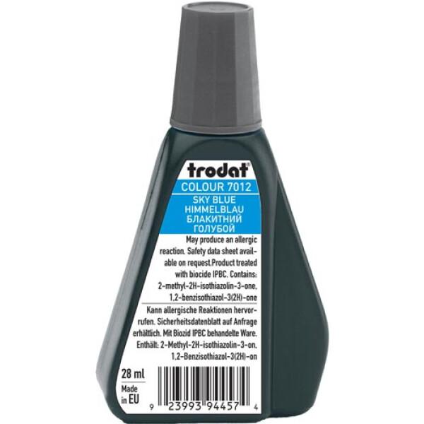 Trodat 7012 Μελάνι Σφραγίδας Sky Blue (Μπλε Ουρανού) σε μπουκαλάκι 28ml για όλους τους τύπους ταμπόν Trodat.