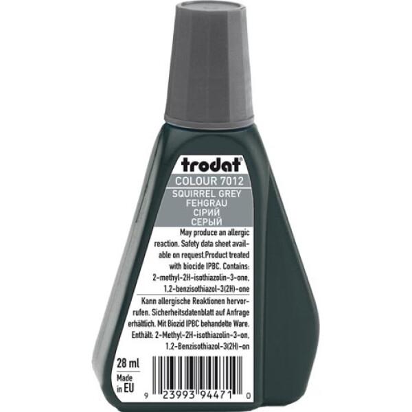 Trodat 7012 Μελάνι Σφραγίδας Squirrel Grey (Γκρι) σε μπουκαλάκι 28ml για όλους τους τύπους ταμπόν Trodat.