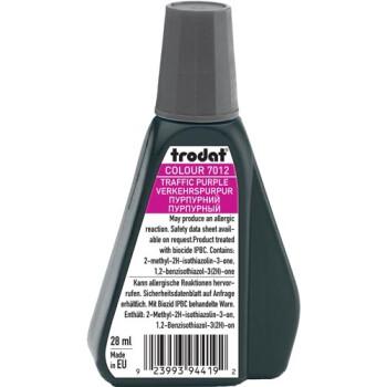 Trodat 7012 Μελάνι Σφραγίδας Traffic Purple (Φούξια μωβ) σε μπουκαλάκι 28ml για όλους τους τύπους ταμπόν Trodat.