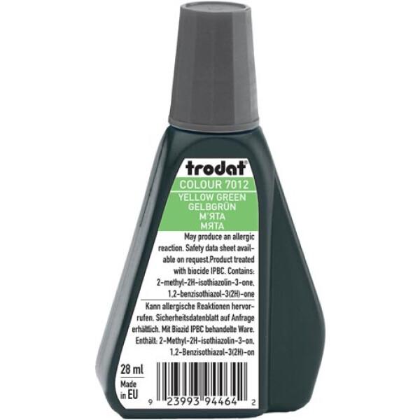 Trodat 7012 Μελάνι Σφραγίδας Yellow Green (Πράσινο Φωτεινό) σε μπουκαλάκι 28ml για όλους τους τύπους ταμπόν Trodat.