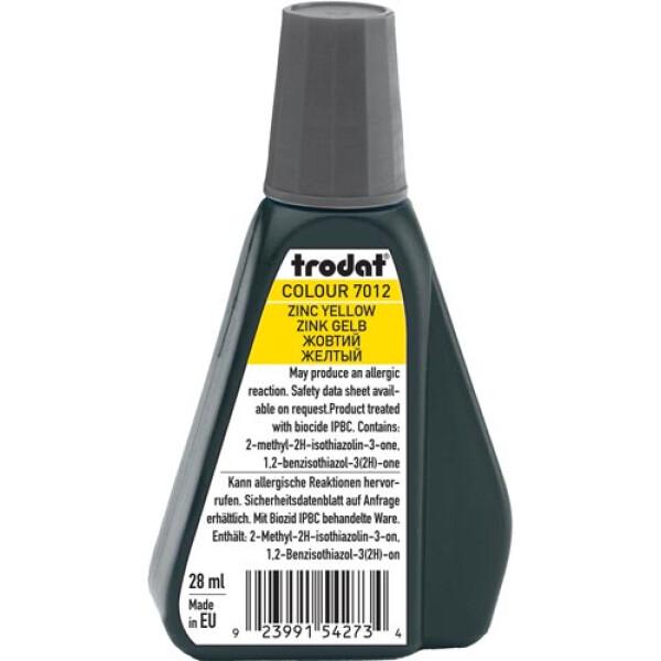 Trodat 7012 Μελάνι Σφραγίδας Zinc Yellow (Κίτρινο Ανοιχτό) σε μπουκαλάκι 28ml για όλους τους τύπους ταμπόν Trodat.
